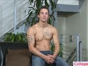 Muscled college guy stripping by collegebf