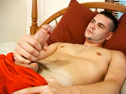 Hot jock with nice cock jerks off