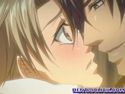 Anime gay having sexy time and hard anal sex