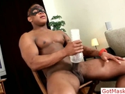 Black stud busting his huge cock by gotmasked