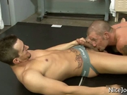 Great looking jock gets great blowjob
