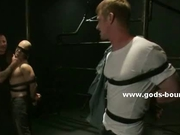 Pair of tied sweet men gay bondage sex