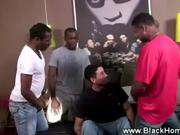 Gang of black studs team up on a white dude