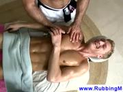 Gay masseur loves toying his clients ass