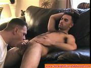 Masturbating straight guy gets some help