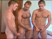 Dad and his b-ys jerking off together