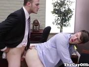 Muscular office stud fucked by his boss