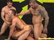 Gaysex pornstar hunk spitroasted