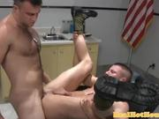 Gay muscle jock getting ass pounded