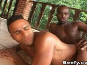Beefy Dude Hardcore Anal Fuck Outdoor