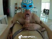 HD MenPOV - Kinky masked sex with 2 cute guys