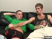 Straight guy paid to suck cock