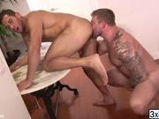 Handsome studs releases loads of cum