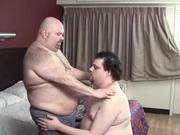 Two Mature Fat Bears Going Down On Each Other