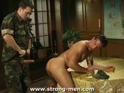 Military Muscle Ass Licking &amp; Banging Action