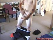 Young skater wanking himself off