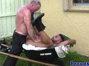 Outdoor bear assfucking muscle before cumming
