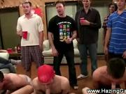 Frat house sausage sucking fest