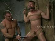 Man holes foraged in gay bondage sex