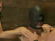 Men bound in deposit used as sex toys