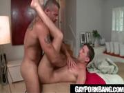 Hunk rubs guy on the inside anal