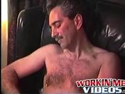 Mature dude Rick wanks his hard dick