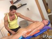 Alluring anal massage