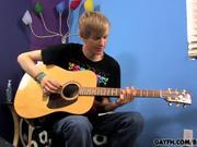 Liam Tunes His Guitar & Cock