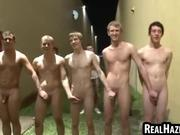 College students get naked and touch
