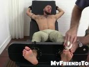 Tino gets tied up and tickled hard