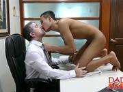This sexy gay Asian twink gets drilled