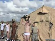 Military gay man close up jerk video Time