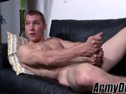 Muscular Elye Black jerking it hard