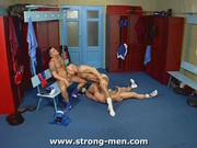 Three Muscle Guys Sucking Each Other Off