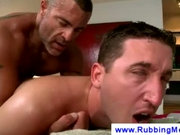 Hot Daddy Masseuse Works My Ass with His COCK