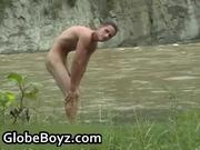 guy dude jerking off in woods