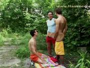 Cute Guys Fucking Outdoors in Nature