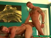 Hardcore gay action on a bed