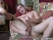 Sexy college guy masturbating his dick