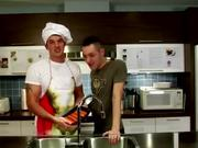Cooking with pornstar Trystan Bull