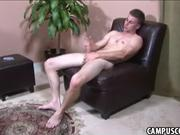 College stud takes a break to jerk off