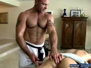 Mature gay masseur rims straight guy