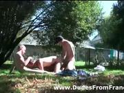 Three gay dudes sweaty suck and fuck