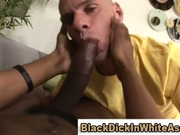 Enormous black cock invades tight white ass
