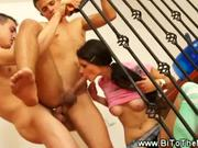 Bisexual MMF euro threesome
