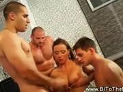 MMF bisexual party getting naughty