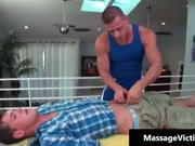 Hot oily massage makes this gay horny