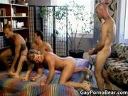 Awesome group gay scene with dudes