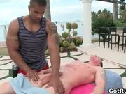 Great outdoor gay sex by two ripped hunk