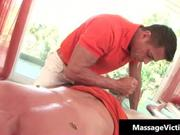 Sexy gay guy gets massage
